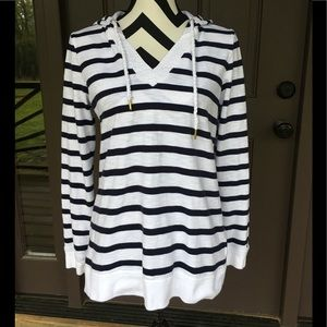 Tommy Hilfiger Nautical blue striped hoodie